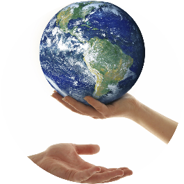 Handing you the globe symbolizes teaching you to become a coach