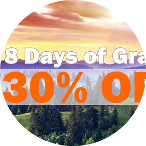 8 Days of Gratitude 30% Off Sale December 2015