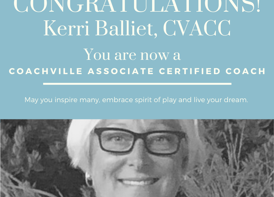 Celebrating Kerri Balliet and her CVACC Credential
